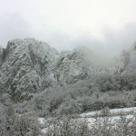 pietre în iarnă