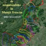 Harta GPS de mountainbike în Munții Trascău